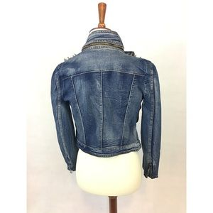 Jackets & Blazers - Denim Jacket with spiked shoulders